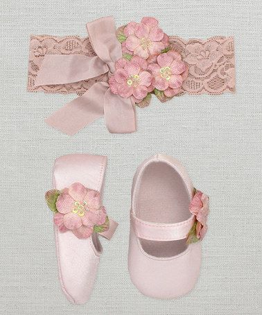 This Rose Floral Headband & Mary Jane is perfect! #zulilyfinds