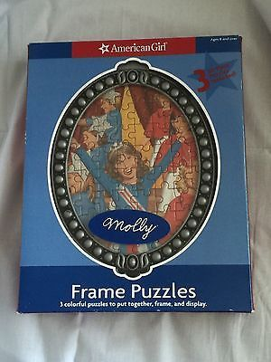American Girl Doll Molly 3 50 Piece Puzzles Frame