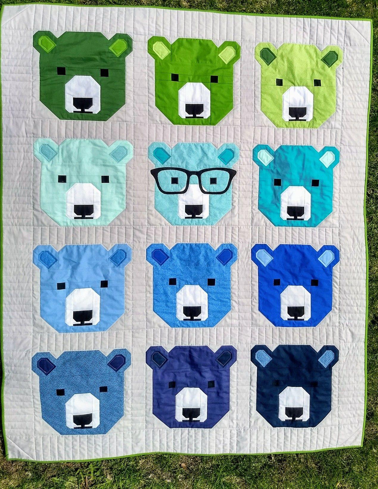 Bjorn Bear Quilt Pattern By Elizabeth Hartman Bear Quilts Elizabeth Hartman Quilts Quilting Crafts