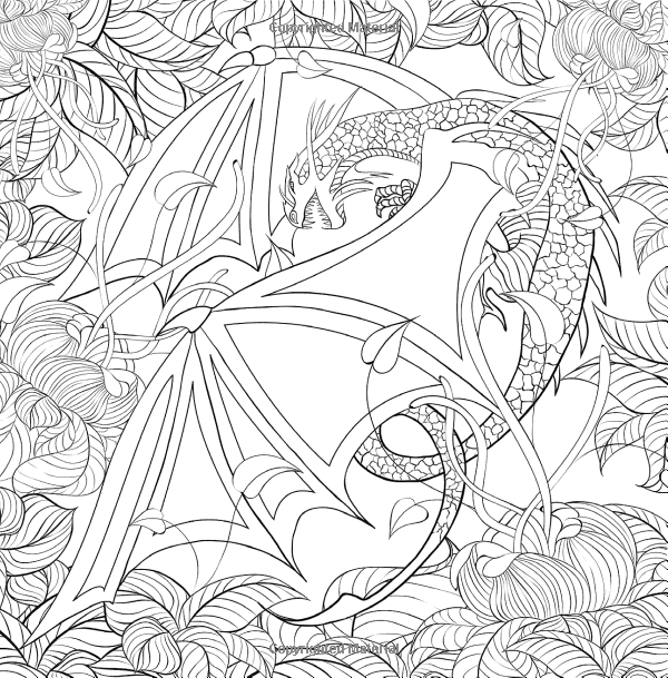 Pin On Coloring Dragons Wizards Knights