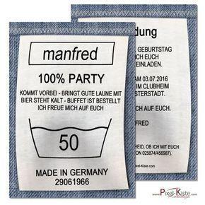 Einladungskarten Geburtstag Waschanleitung #50anniversary