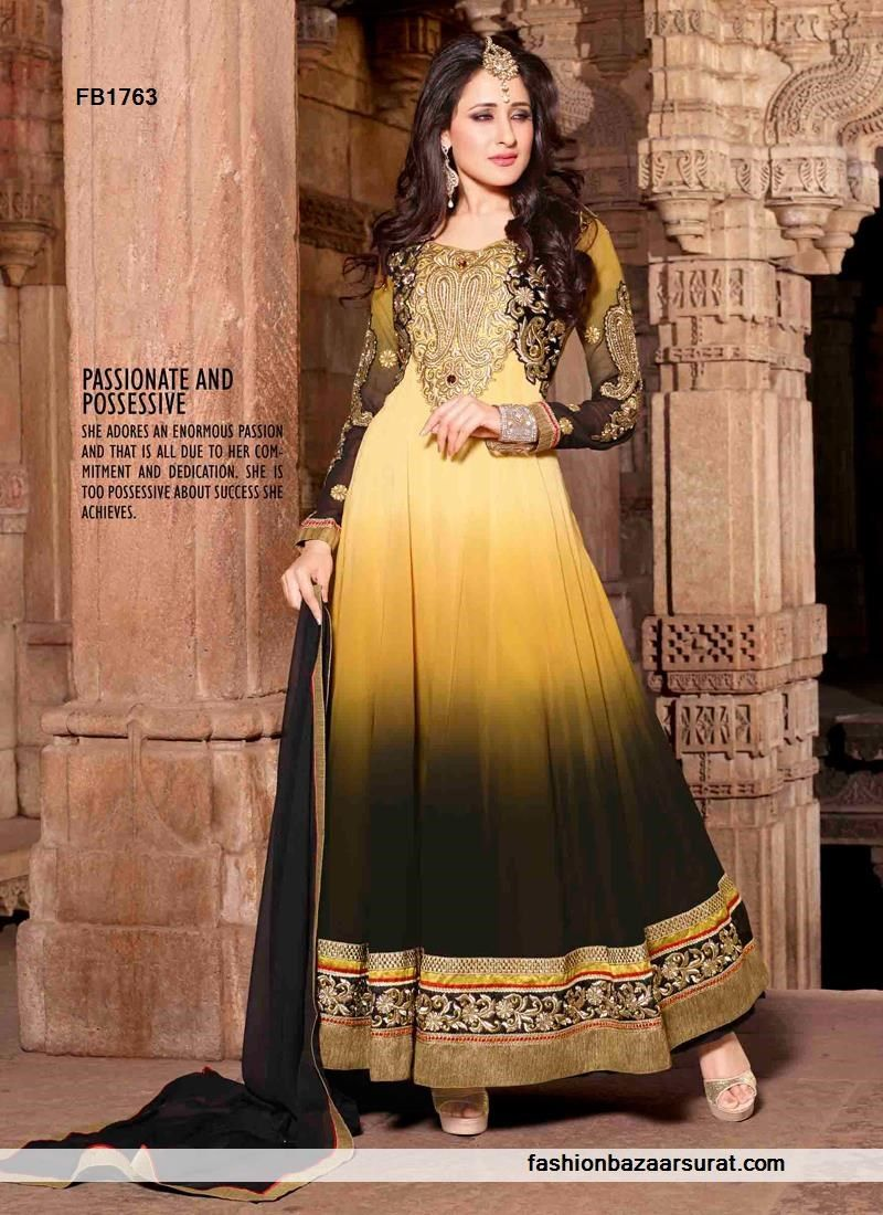Amazing yellow anarkali suit buy indian salwar suits online for