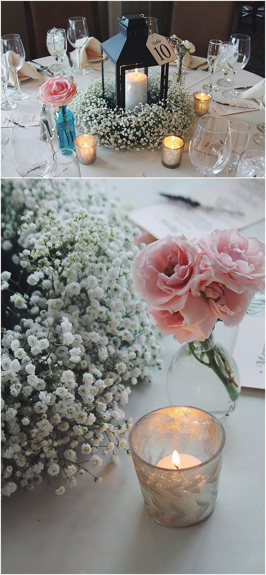 S + M Wedding at Lighthouse Sound Wedding centerpieces