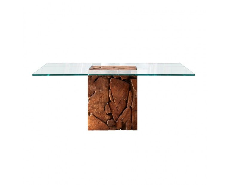 Glass Dining Table With Teak Root Base Dining Table Glass Dining Table Teak