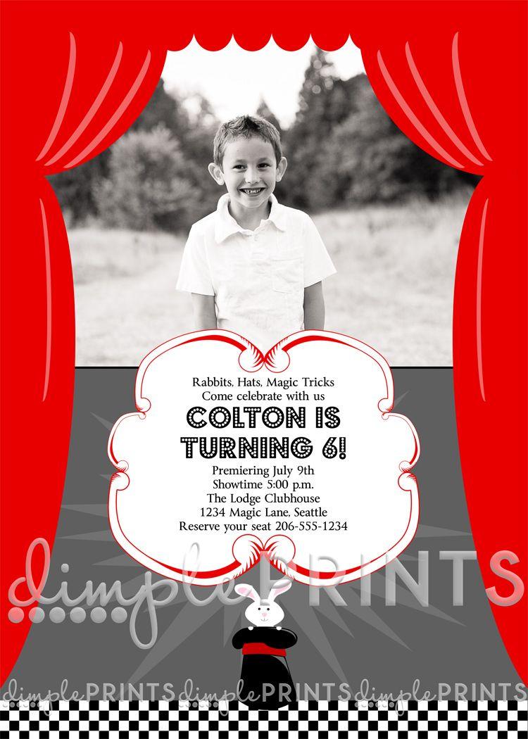 Magic Photo Printable Birthday Invitation | Pinterest | Birthdays ...