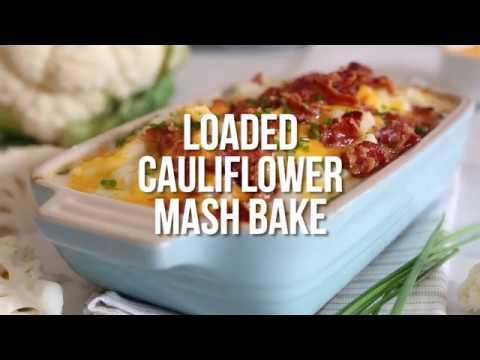 Low Carb Loaded Cauliflower Mash Bake