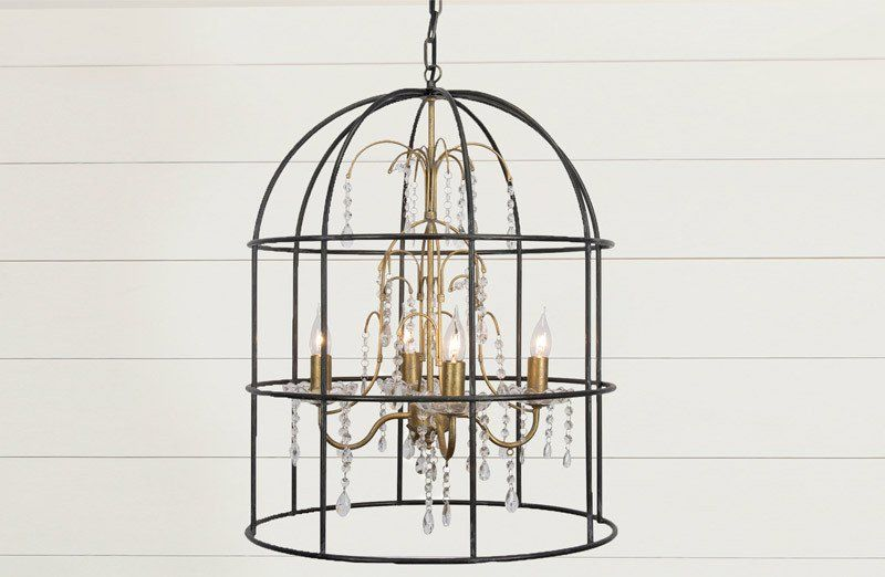 Vintage Bird Cage Chandelier Birdcage Chandelier Vintage Bird