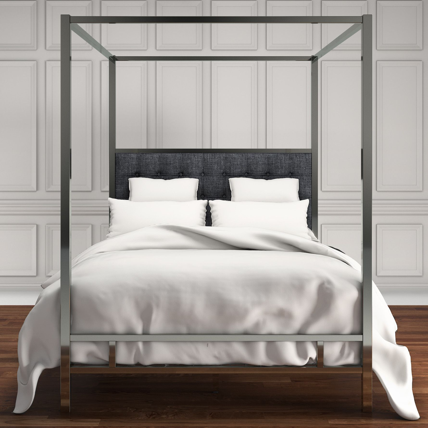 Stonehedge Upholstered Canopy Bed Upholstery bed, Bed