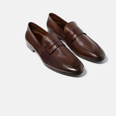 fcfe8a9ade0 Image 2 of LEATHER PENNY LOAFERS from Zara | Men's Shoes | Shoes ...