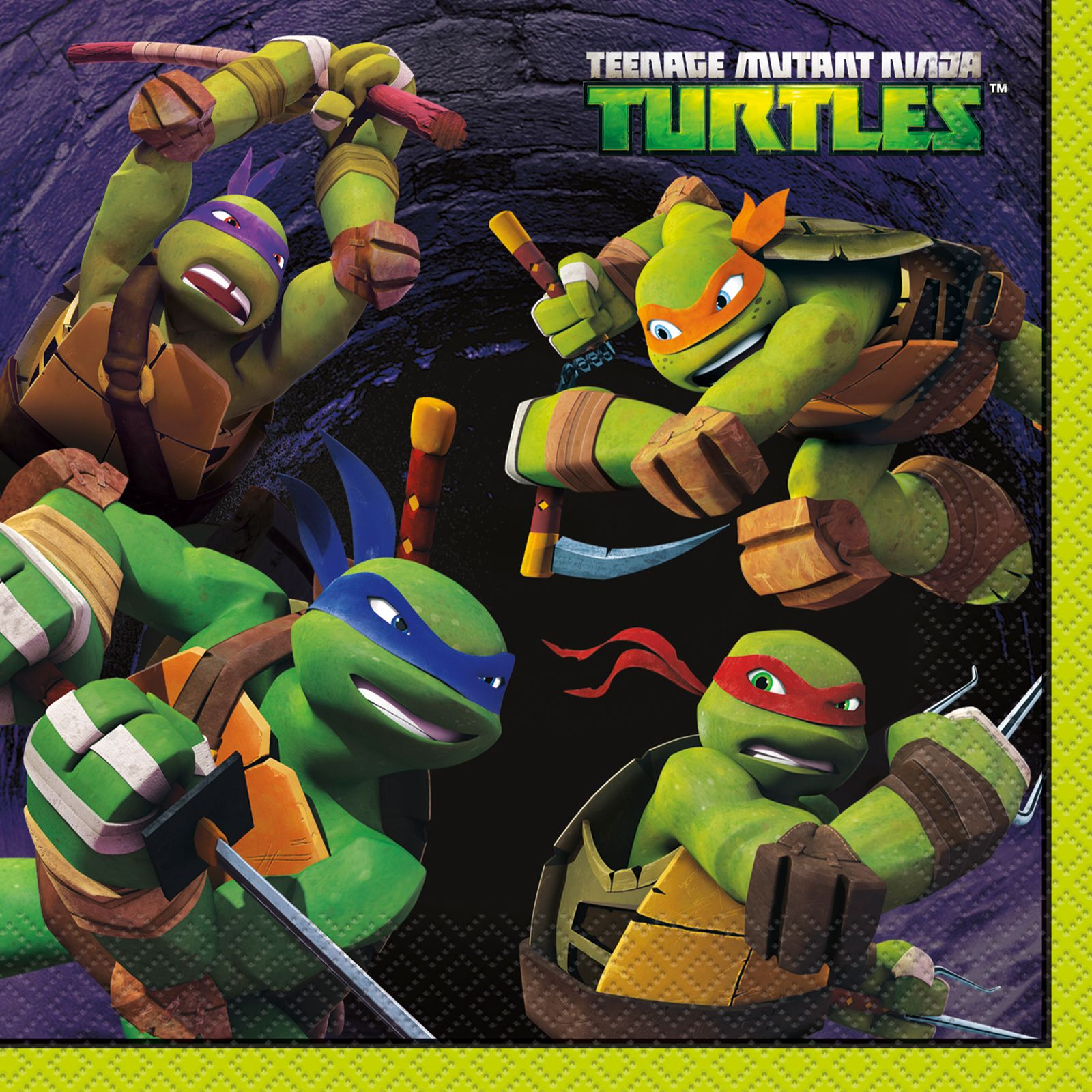 Nickelodeon Teenage Mutant Ninja Turtles Lunch Napkins Ninja Turtle Party Supplies Teenage Mutant Ninja Turtles Party Ninja Turtle Birthday