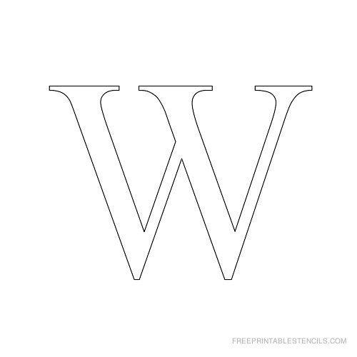 Printable Times New Roman Alphabet Stencil W