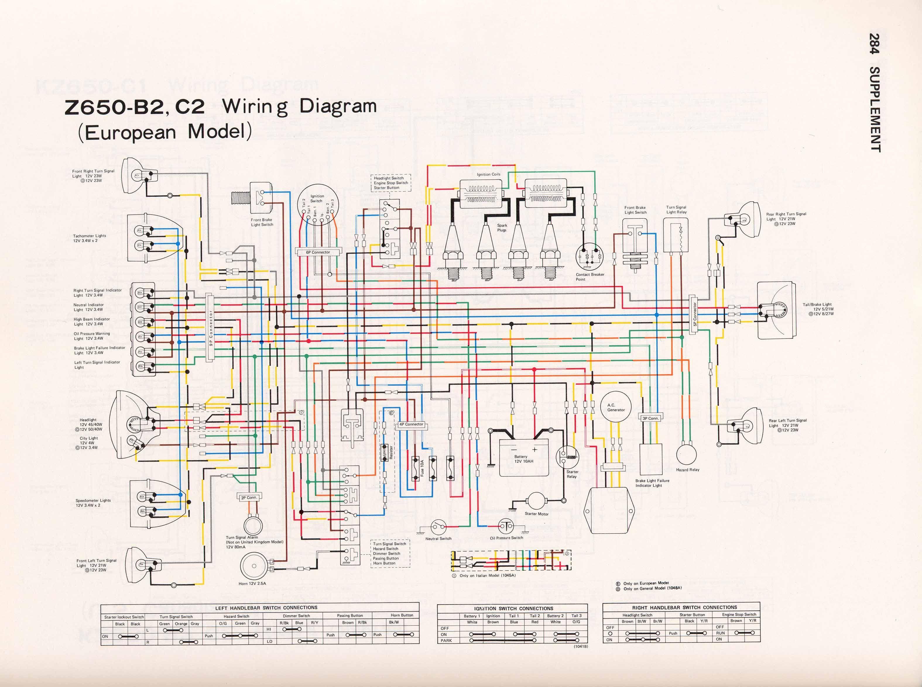Kawasaki Z650 Wiring Diagram Zr 7s B2 C2 3150 2350 K Pinterest Rh Com Z750