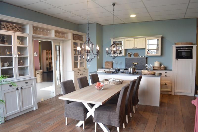 Mooie deuren voor tussen de keuken en woonkamer keukens pinterest model keuken en keukens - Keuken blauw en wit ...