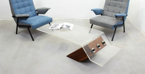 Mobili Scandinavi Modernariato : Tavolino da salotto design anni scandinavian design glass