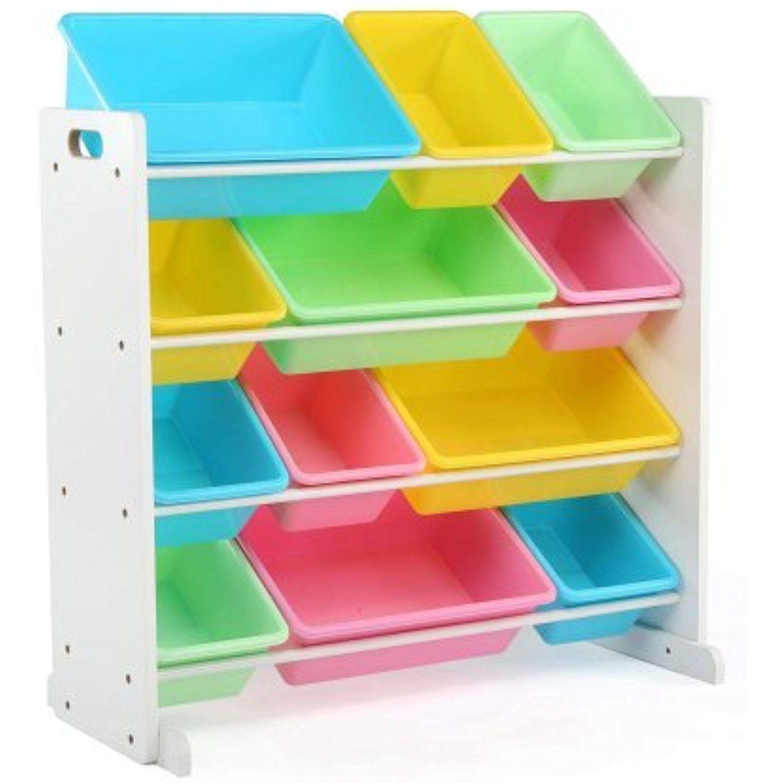 Kids Toy Storage Box Alternative Sturdy Wood Organizer With 12