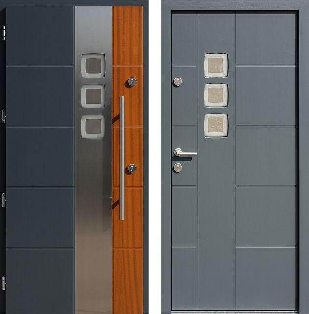 Drzwi wejściowe do domu z katalogu inox wzór 455,2-455,12