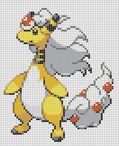 mega ampharos pixel art