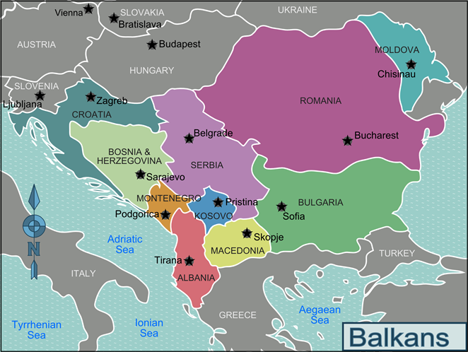 Where Is Kosovo The Republic Of Kosovo Lies In The South East Of