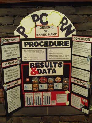 popcorn science fair project Science Fair Success Education - science project report