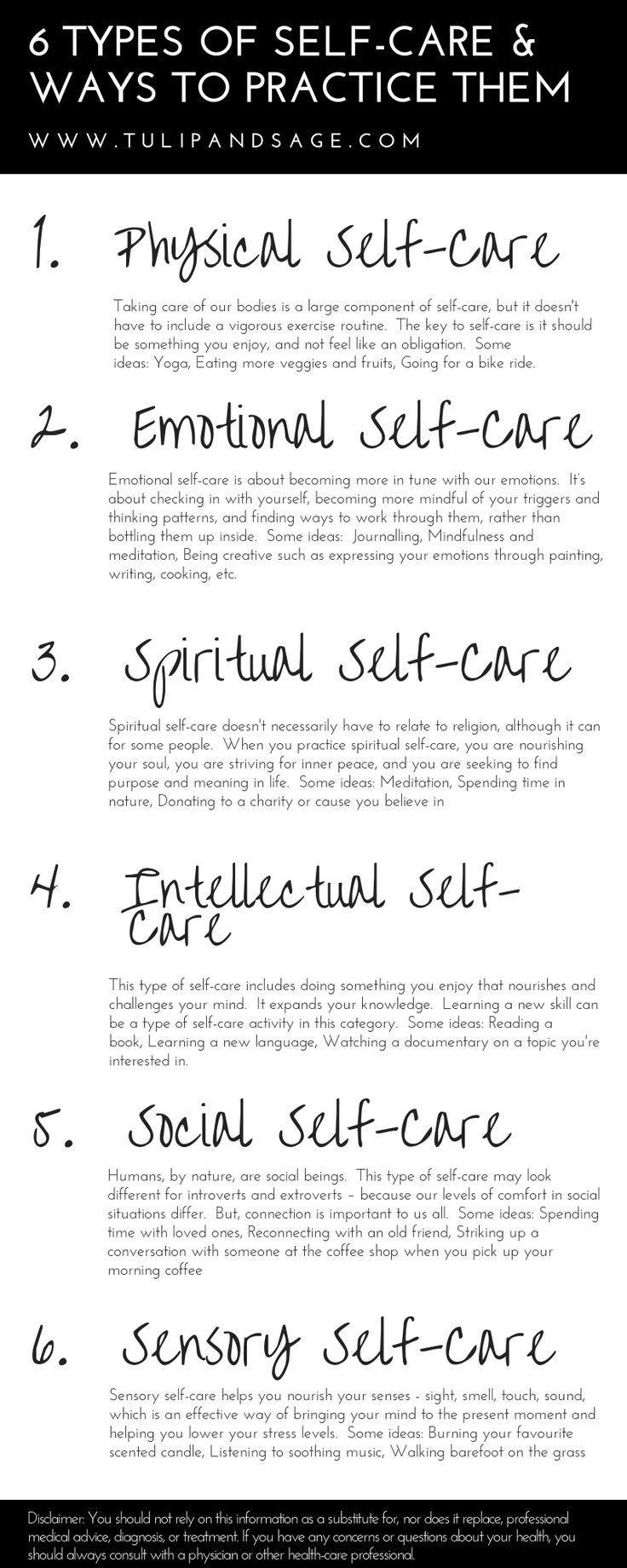 6 Arten von Self-Care & Möglichkeiten, sie zu üben #bathingbeauties #amp #Arte…