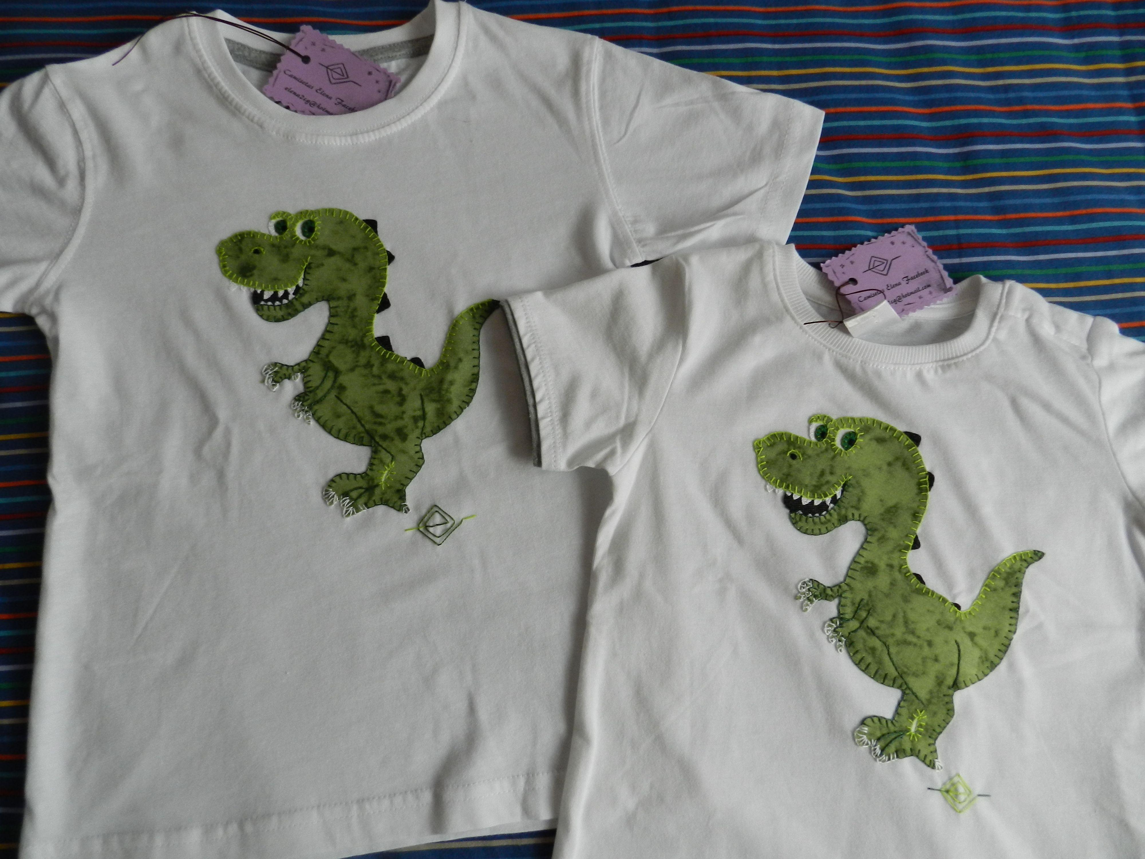 Dinosaurios Patchwork Camisetas Elena Patrones Dibujos  ~ Ideas Para Decorar Camisetas Infantiles