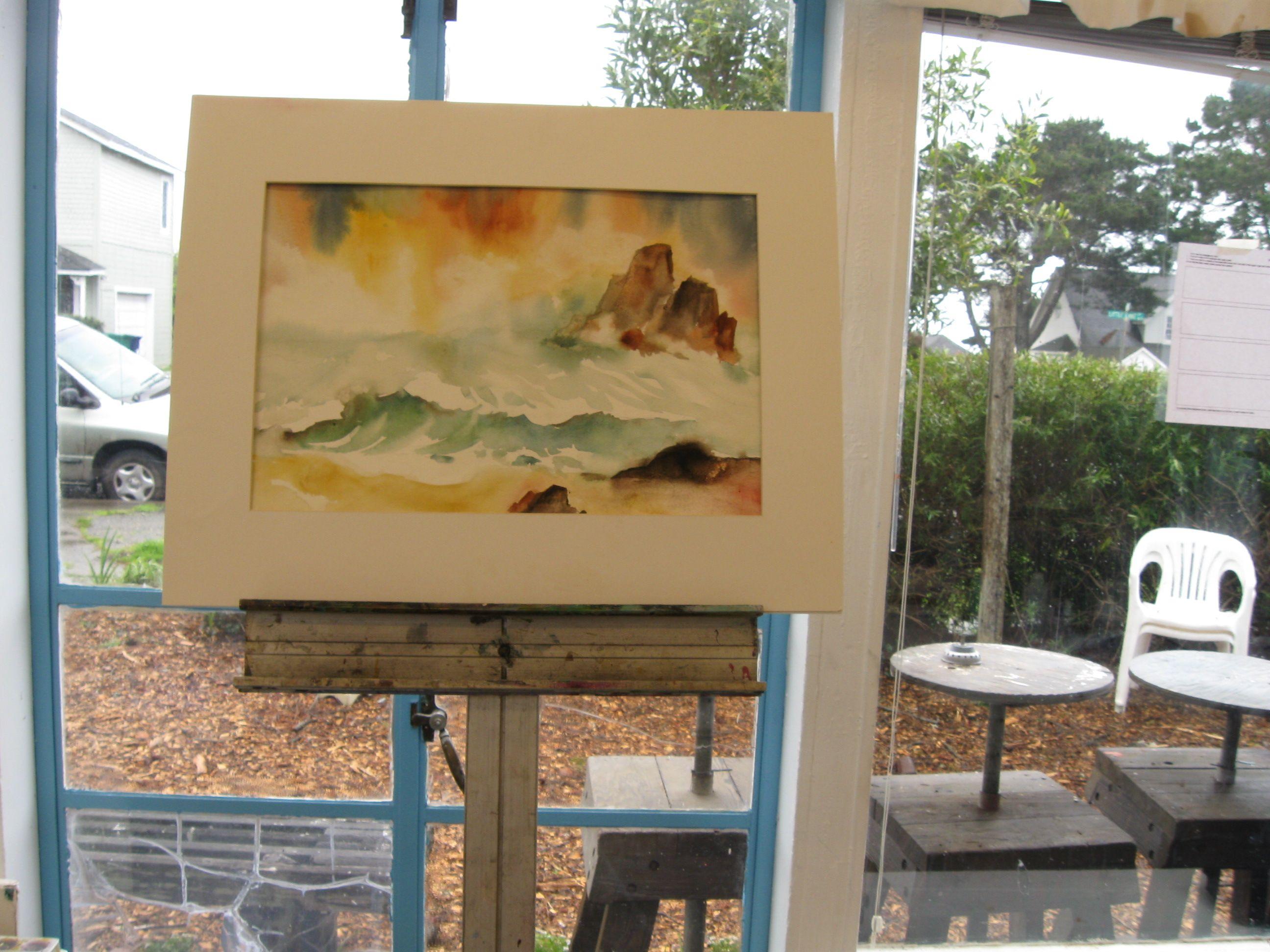 Demo In Ocean Class Paint The Ocean Waves Rocks Sea Life In