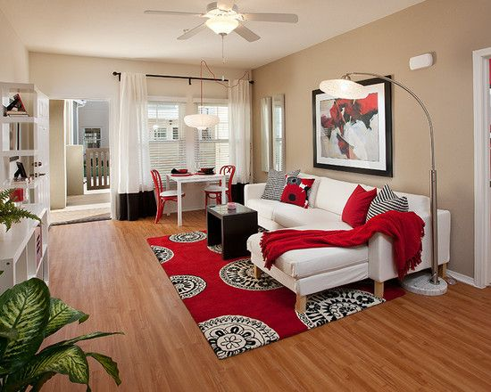 Spaces Red Living Room Pictures Design, Pictures, Remodel, Decor and Ideas  - page