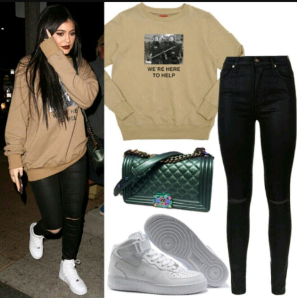 kylie jenner nike air force
