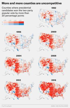 Purple America Has All But Disappeared | America\'s Decline ...