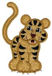 Tiger Applique Design