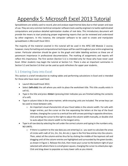 ms excel basics pdf download