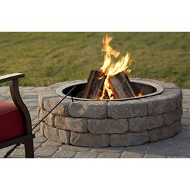 Shop 43 5 In W X 43 5 In L Ashland Concrete Firepit Kit At
