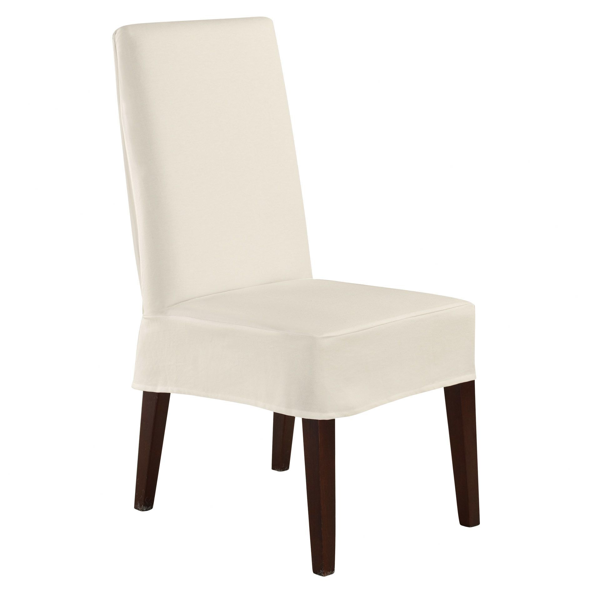 Twill Supreme Short Chair Slipcover