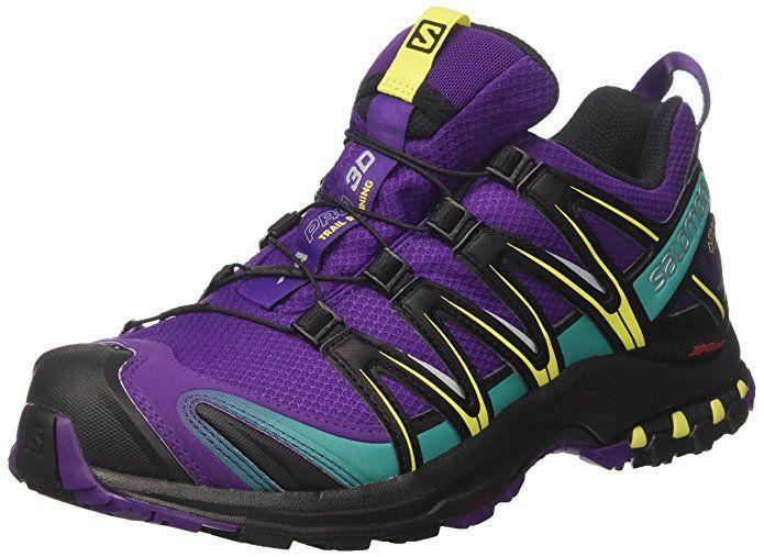bab5f7b875db5 Salomon Women's XA PRO 3D GTX Acai/Black/Dynasty Green Athletic Shoe ...