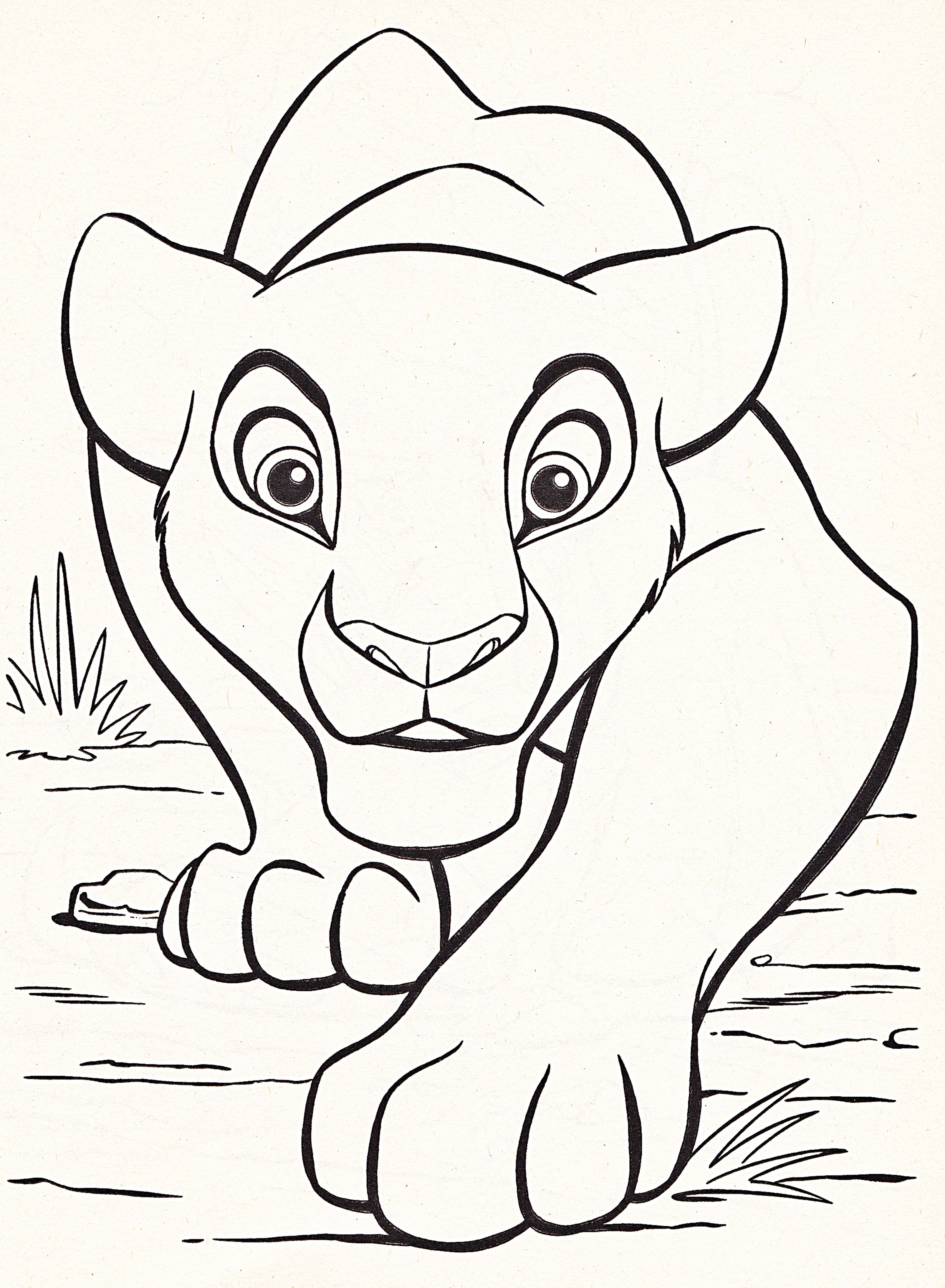 Disney Coloring Pages Lion King Free Large Images … Pinteres…