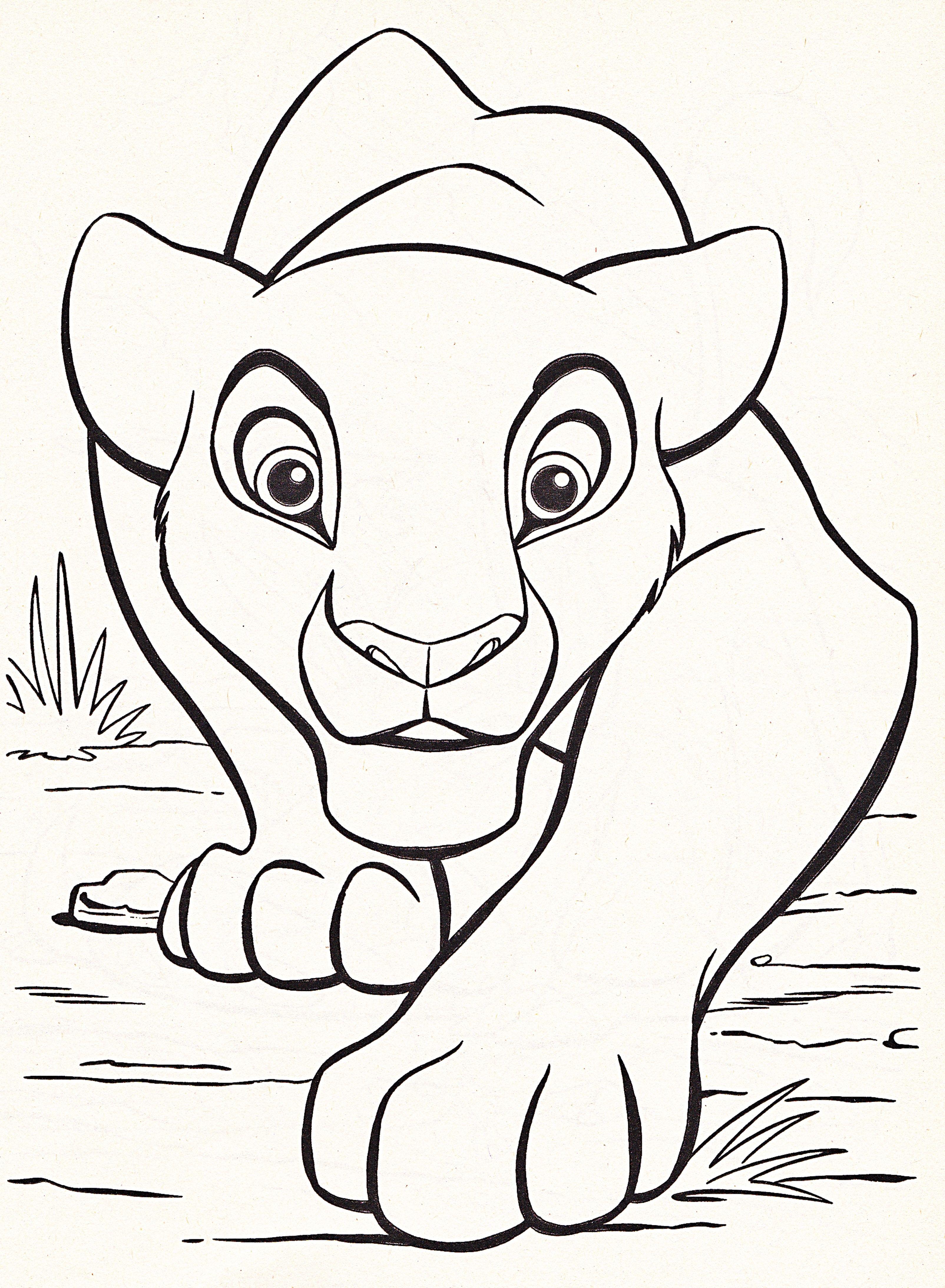 Disney coloring pages lion king free large images kid fun