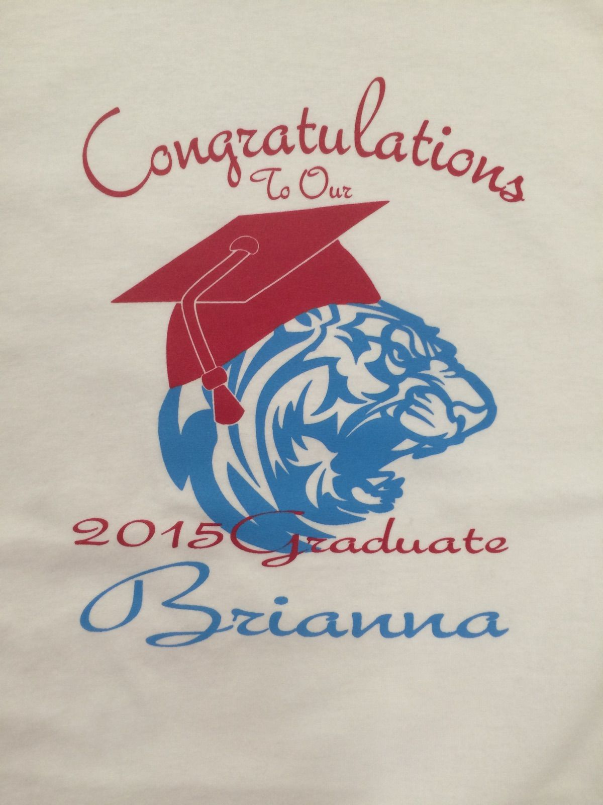 Screen Print - 2 Color Full Front - 2015 Graduation Shirts