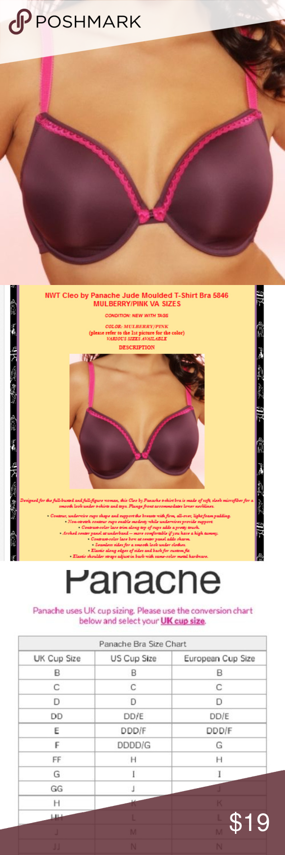 9eb0dbfdc5e Cleo by Panache Jude Moulded T-Shirt Bra 5846 THIS BRA IS VARIOUS ...