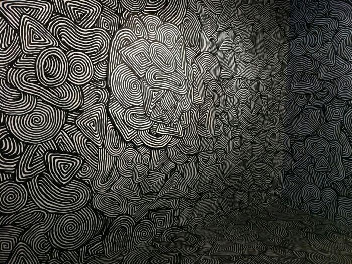 Muster in Schwarz-Weiß wandgestaltung mit Farbe