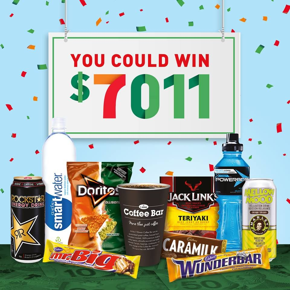 7 Eleven Rewards App Contest: Scan & Win $7,011 00 Cash