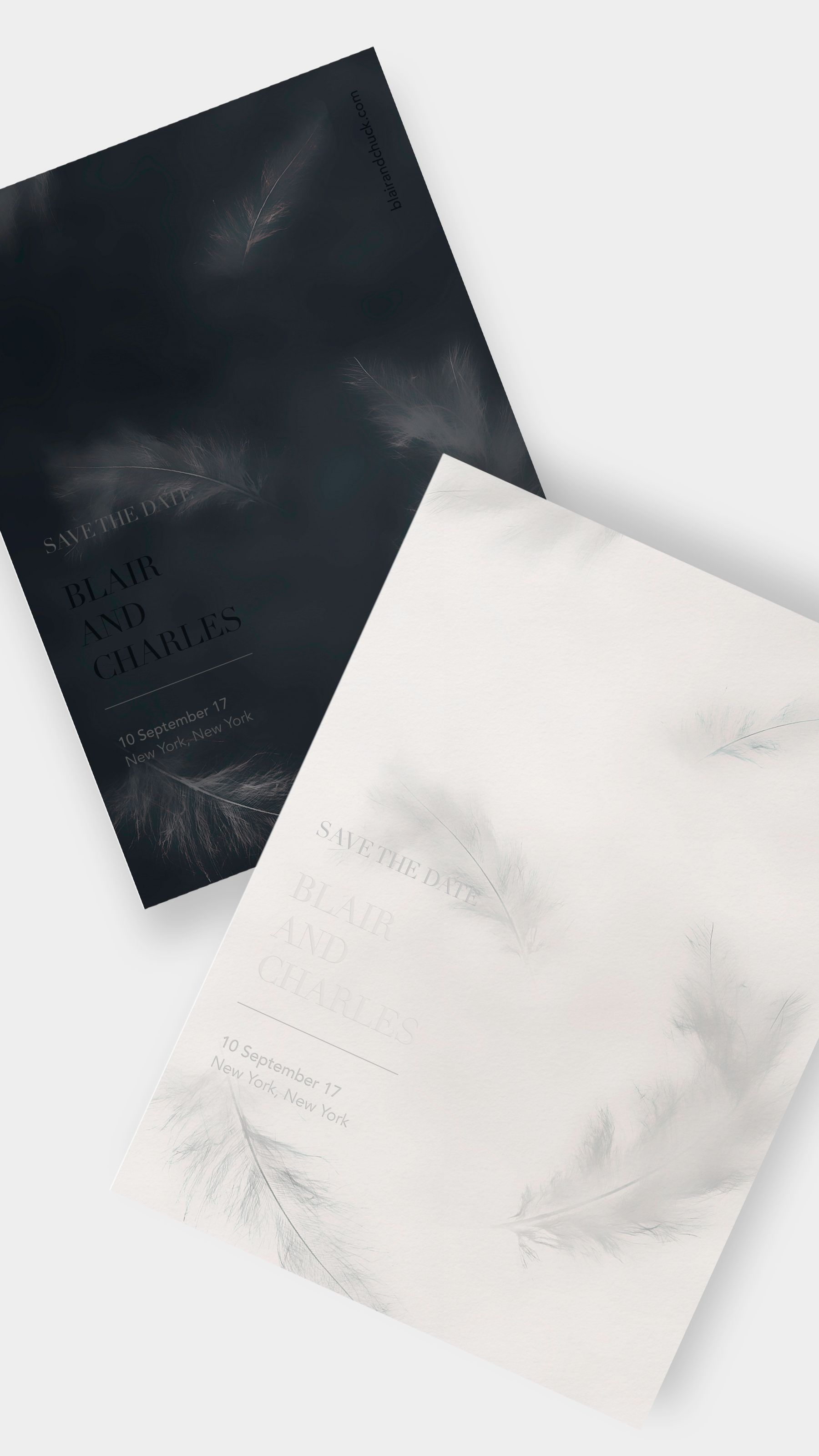 Design Your Own Wedding Invitation or Save the Date / Feathers ...