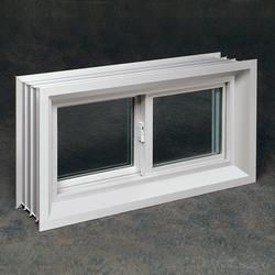 Northview 32 X 20 X 8 White Vinyl Buck Sliding Basement Window With Insulated Glass 108 00 Basement Windows Bath Window Windows And Doors