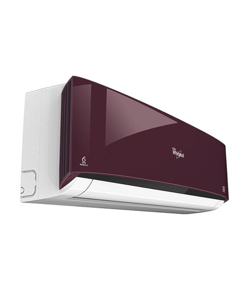 Whirlpool 1 Ton 3 Star 3D COOL DELUXE Split Air Conditioner Wine ...