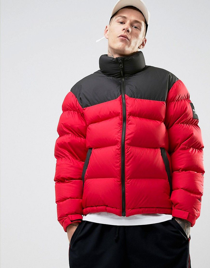ada34cd0fd THE NORTH FACE 1992 NUPTSE DOWN JACKET 2 TONE IN RED BLACK - RED.   thenorthface