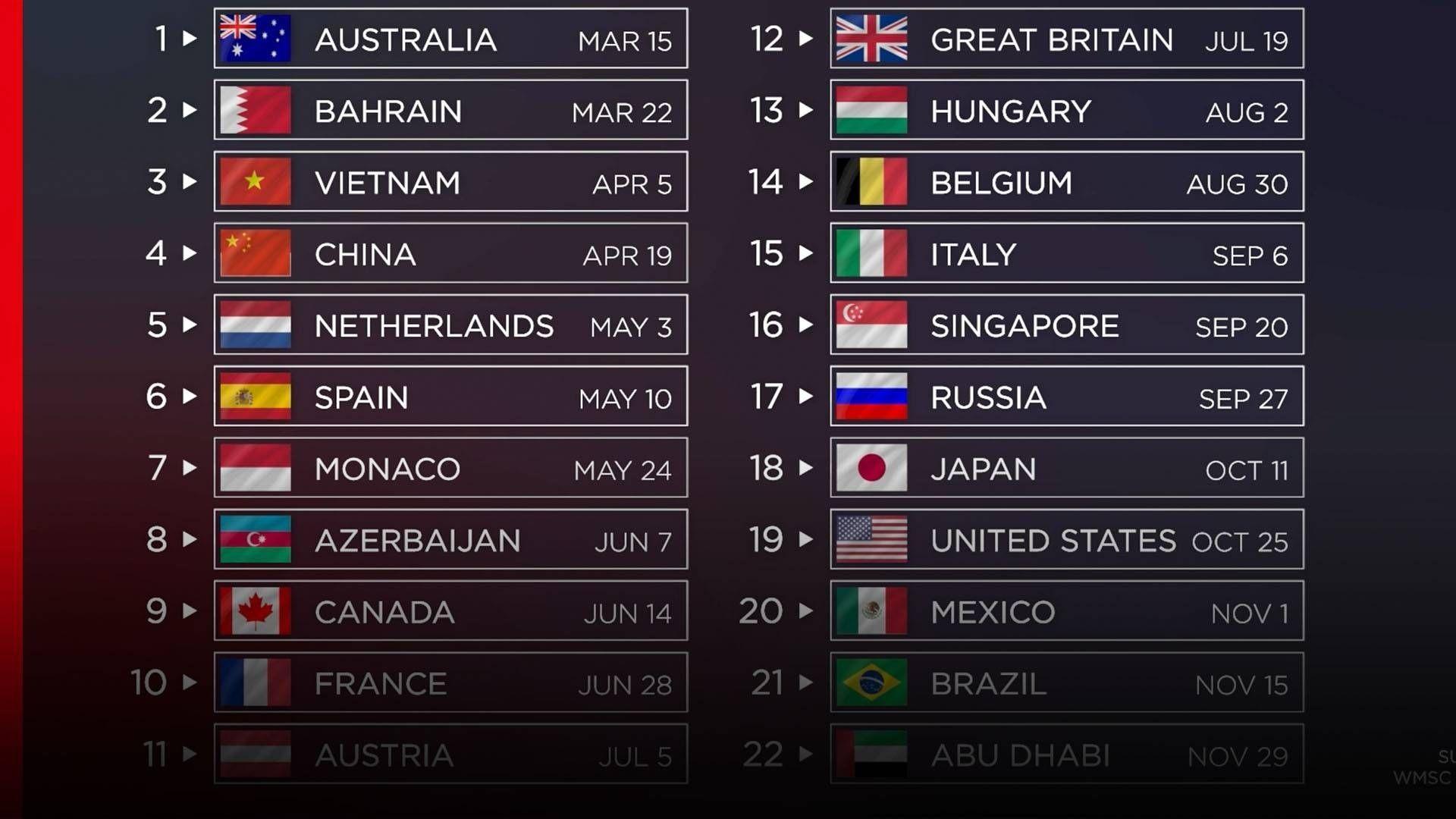 F1 2022 Calendar Download.Remarkable Printable 2020 Formula 1 Schedule In 2021 Schedule Calendar F1 Calendar Daily Calendar Template