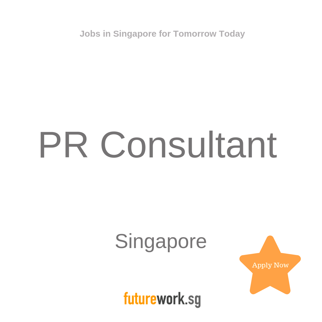PR Consultant This boutique PR agency is looking for a PR