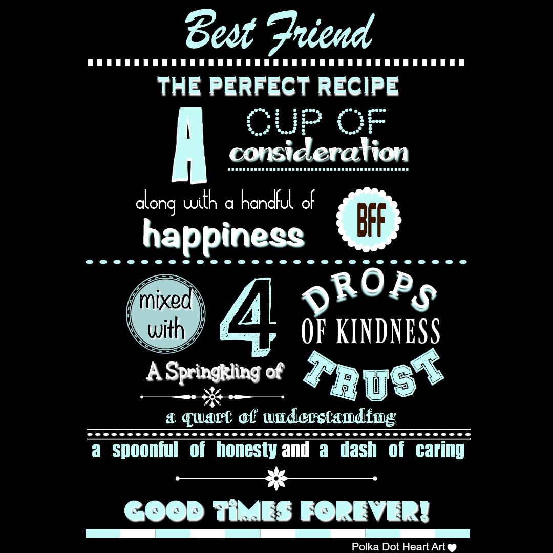 Friendship Recipe Friendship Recipe Friend Recipe Heart Art