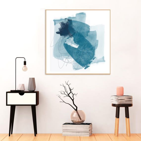 Blue #Abstract #Art #Blue #Painting #Printable by InspirationAbstracts