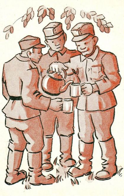 Soldiers Sharing Tea