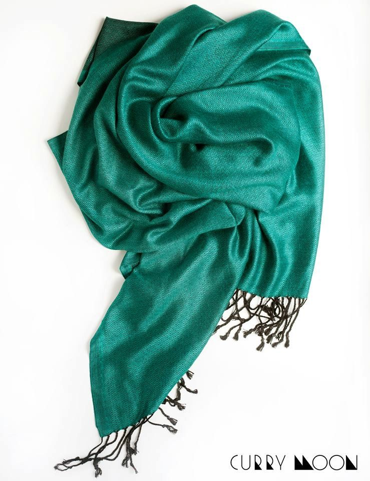 1250bf9003317 Emerald green scarf, scarf for women, scarf silk and viscose, smooth scarf,  bright green scarf, beautiful accessory, scarf with fringe, wrap by  CurryMoon on ...